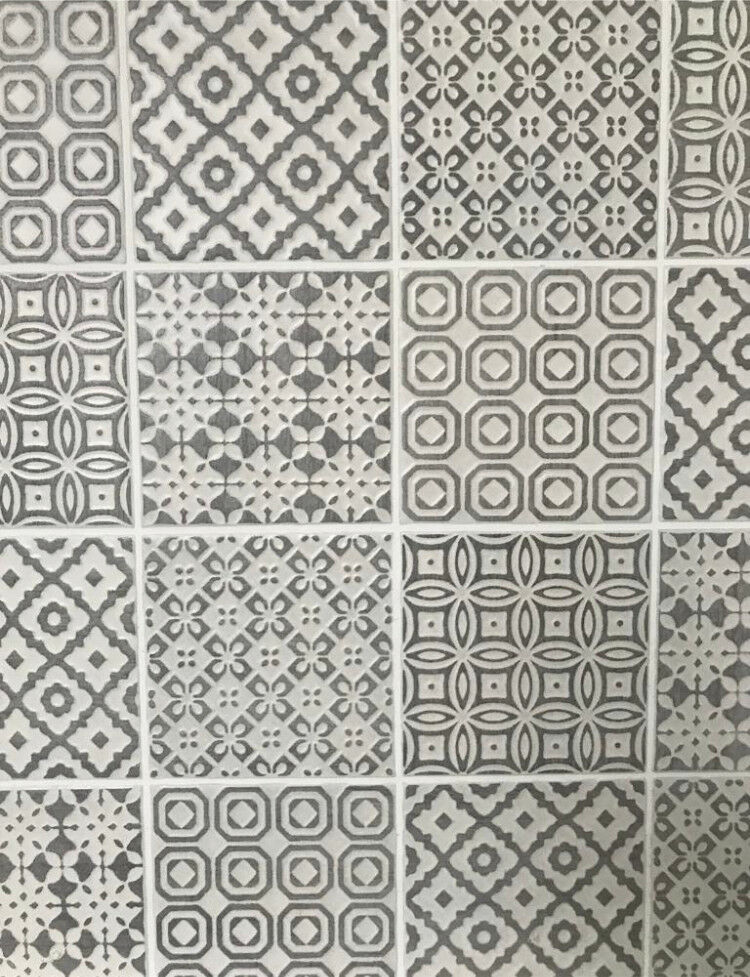 Grey White Patterned Tiles From Topps Batik Patchwork 24