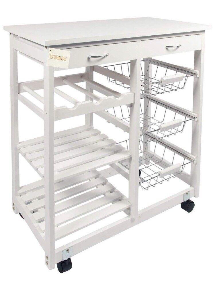 Kitchen Cart Wine Rack Shelves Storage In Hackney London