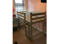 Pine mid sleeper small single shorty bed
