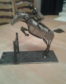 Hand crafted equestrian horse sculpture
