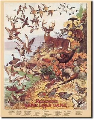 Remington Game Load Hunting Ducks Deer Turkeys Quail Pheasant Tin Metal Sign
