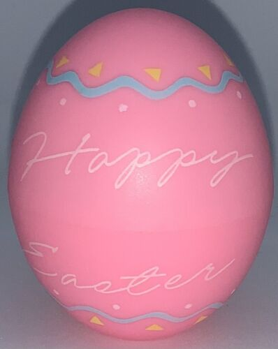 1989 HALLMARK EASTER MERRY MINIATURE-SCRIPT 'HAPPY EASTER' PLASTIC EGG CONTAINER