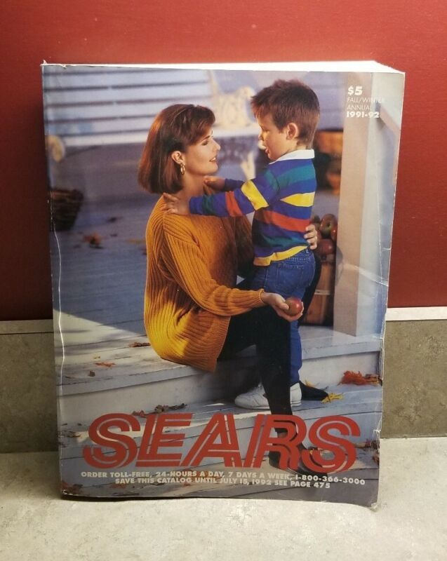 Vintage Sears Department Store Catalog 1991 1992 Fall Winter 1603 Pages