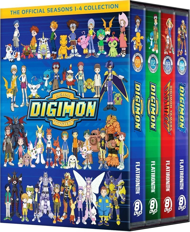 Купить Digimon Digital Monsters The Official Seasons 1-4 Collection Complete TV Series