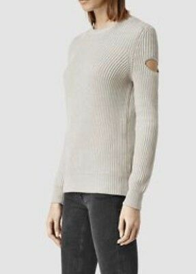 *SALE!*Bnwt Allsaints RIA Cut Out Open Shoulder jumper. Mist Grey.sz Large.£118