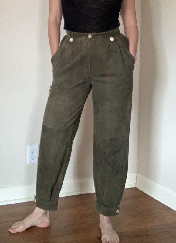 VINTAGE BERWIN & WOLFF OKTOBERFEST DIRNDL TYROL Suede Pants Size 40