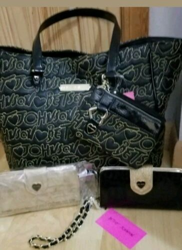 Betsey Johnson handbags  4 piece set  COMES WITH 2 WALLETS