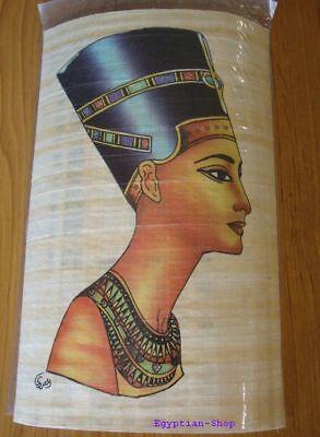 Genuine Egyptian  PAPYRUS - NEFERTITI - 29.5 x 19.5cm    #403