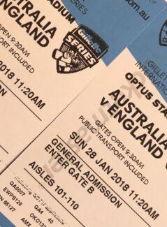 Two GA tickets OPTUS Australia v England 5th ODI