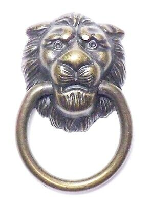 Lion Ring-pull (9 Classics Lion Head Ring Pull Drawer Cabinet Door Handles Knobs Antique Brass)