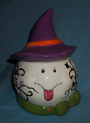 Witches Painted Faces For Halloween (WITCH FUNNY FACE  TREAT JAR.  GREAT  FOR THE  HOLIDAY  TREATS!)