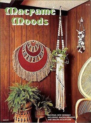 Macrame Moods Vintage Pattern Instruction Book Shower Curtain Plant Hangers NEW