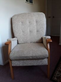 Upright armchair for firm support