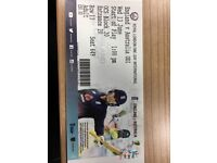 Two tickets - Eng vs Aus 1st ODI Oval 13th June. £65 each