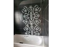 Bathroom glass shower screen