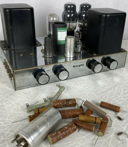 KNIGHT MONO INTEGRATED TUBE AMPLFIER RECAPPED - SOUNDS SUPERB
