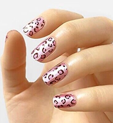 """INCOCO Nail Polish Strips, """"Miss Purr-fect"""" Pink Cheetah 16 Double-Ended Strips"""