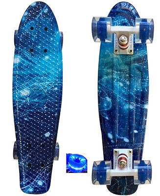 LMAI 22'' Cruiser Skateboard Graphic Galaxy Starry Board Penny Style Complete