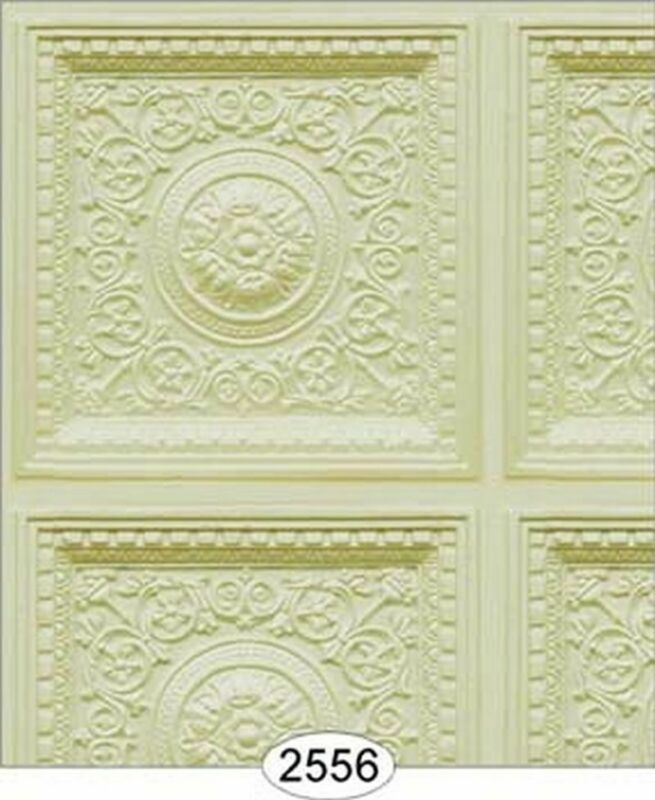 Dollhouse Wallpaper Ceiling Rosette Panel Cream