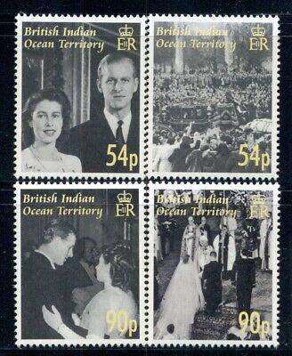 BRITISH INDIAN OCEAN TERRITORY 326-29 SG357-60 MNH 2007 QEII Wedding set Cat$12