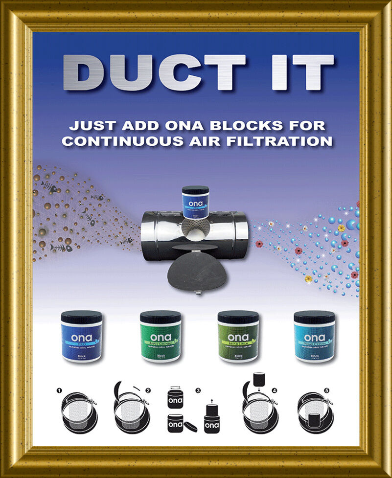 Ona Air Filter Inline Duct Block Holder For Odour Control Hy