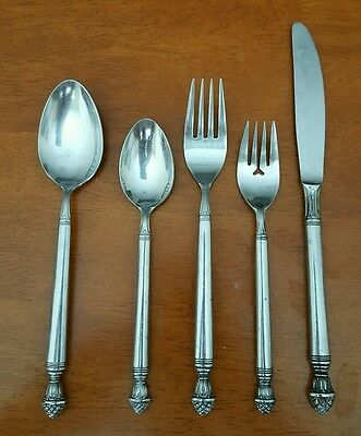 Royal Pine Stainless Flatware 5 pc. Place Setting-VERY RARE