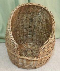 Wicker Cat basket bed .