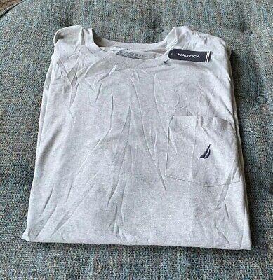 Nwt Nautica Classic Pocket Tee T Shirt Big&Tall Size 3XL (3XLT) Gray R2