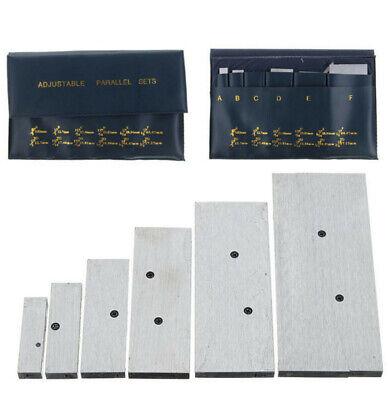 Set Of 6 Pcs 3/8 Inch - 2-1/4 Inch Adjustable Parallel Set Precision Measurement