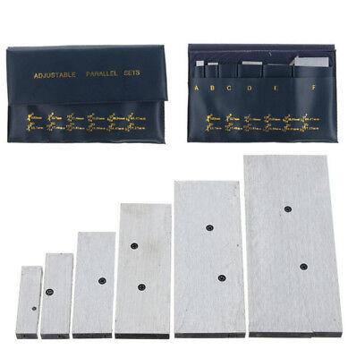 Set Of 6 Pcs 38 Inch - 2-14 Inch Adjustable Parallel Set Precision Measurement
