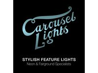 Sales Manager for Carousel Lights, a 'CoolBrand' selling Neon Lights