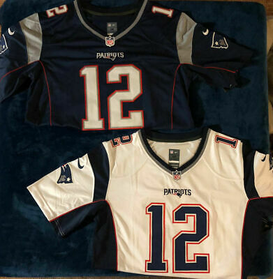 Tom Brady 12 New England Patriots Mens Stitched Jersey White / Navy High Quality