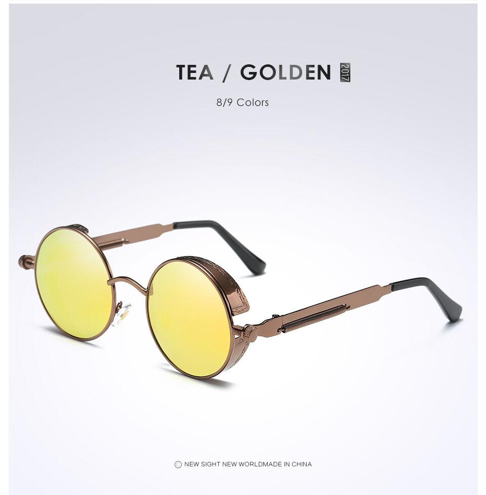 6c4a181aa9 ... Sunglasses 3 Vintage Polarized Steampunk Sunglasses Fashion Round  Mirrored Retro Sunglasses 3 Vintage Polarized Steampunk Sunglasses Fashion  Round ...