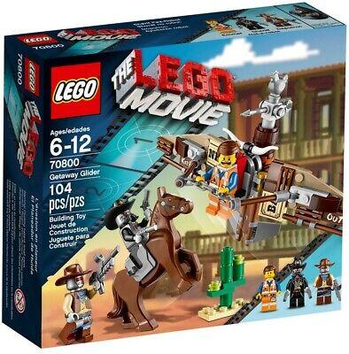 NEW Lego 70800 Lego Movie Getaway Glider SEALED Retired HORSE (3) figs FREE ship