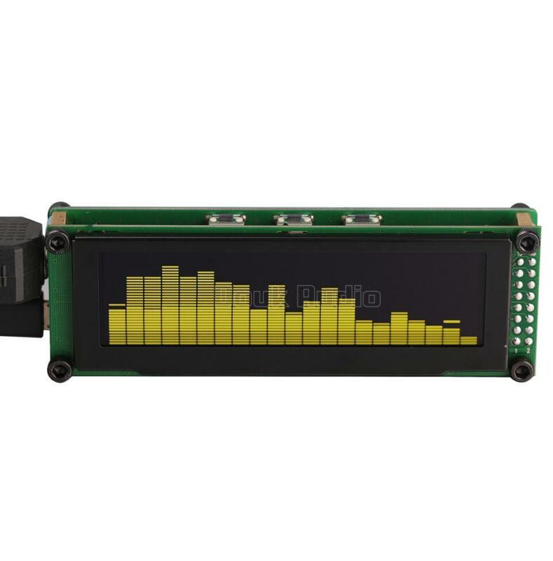21*32 OLED Music Spectrum Sound Level Indicator Analyzer Audio Display VU Meter