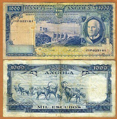 Angola (Colonial Portugal), 1000 Escudos, 1970, P-98, G