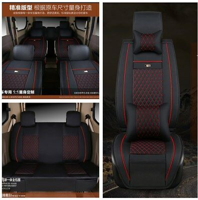 PU Leather Whole Surrounded 7 Seat Car Seat Cover Cushion Pillows Comfortable