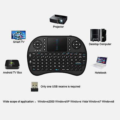 Mini Wireless Keyboard 2.4G w/ Touchpad Handheld Keyboard for PC Android TV T71