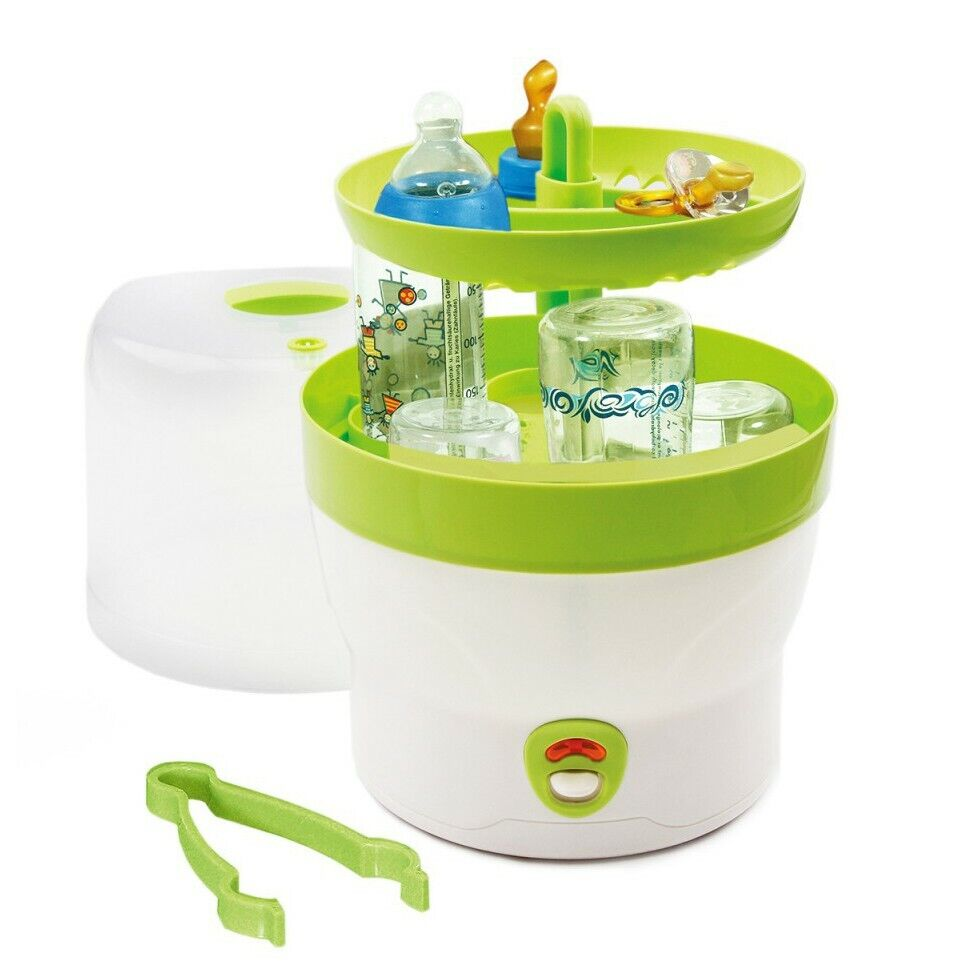 H+H Dampfsterilisator Vaporisator 6 Babyflaschen Sterilisator Bs 29 grün