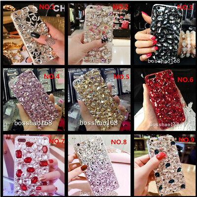 Jewelled Bling Crystal Full Rhinestone Diamond Soft TPU Back phone cover case (Full Diamond Bling Phone)