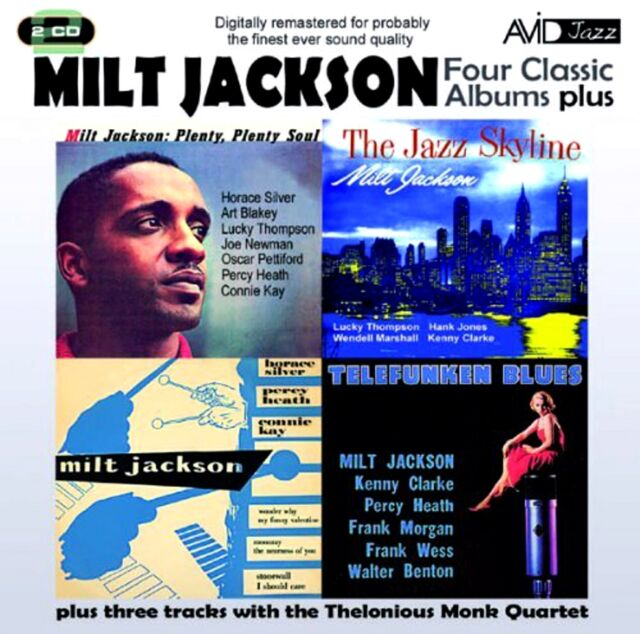 Milt Jackson 4 Classic Albums Plus NEW 2 CD JAZZ SKYLINE,PLENTY SOUL,TELEFUNKEN
