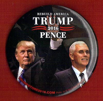 2016 Donald Trump Mike Pence 3  Large Size    Campaign Button Pin 25L