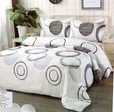 Bettwäsche-Set, 160x200, 4 Teile ,Kreise