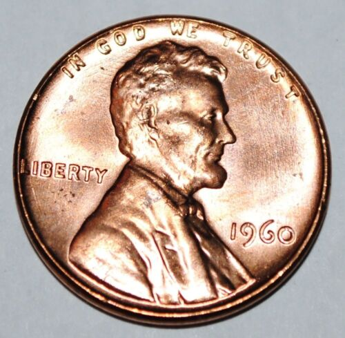 1960 P LINCOLN WHEAT CENT - Large Date  - BU