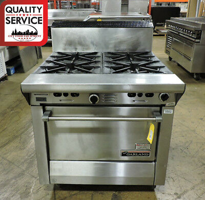 Garland M44r Commercial Heavy-duty 4-burner Gas Range W Standard Oven