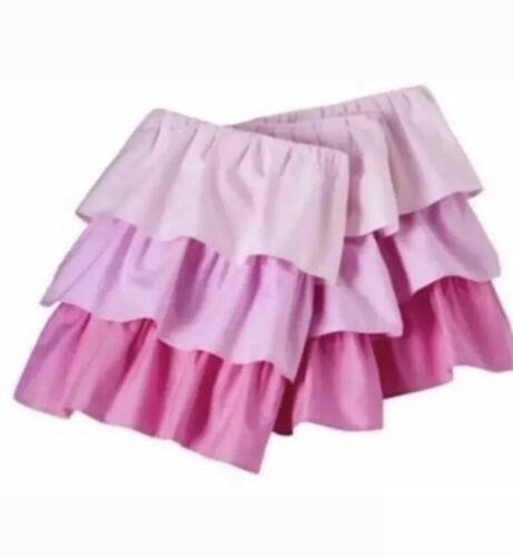 Cloud Island Multi Pink Ruffle 3 Tier Ombre Crib Bedskirt Nwot