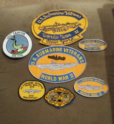 WW2 submarine veteran patch grouping