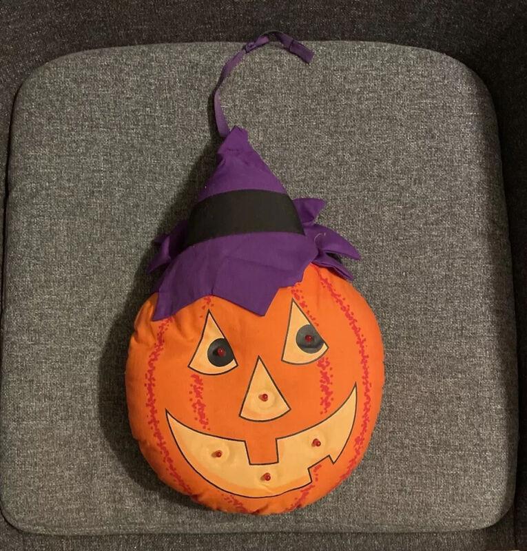 Avon Vintage Exclusive Jack O Lantern Pumpkin with Hat Plush Lights Up 13.5 x 9