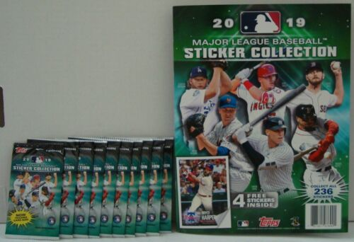 2019 Topps Mlb Stickers With Album 10 Packs With 4 Stickers Per Pack New