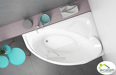 Badewanne Eckbadewanne Wanne Acryl 166x107 cm Füße Ablaufgarnitur Silikon rechts